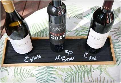 Chalkboard Wine Tray