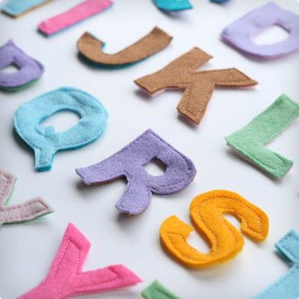 DIY Felt Scrap Alphabet