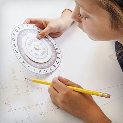 DIY Secret Decoder Wheel
