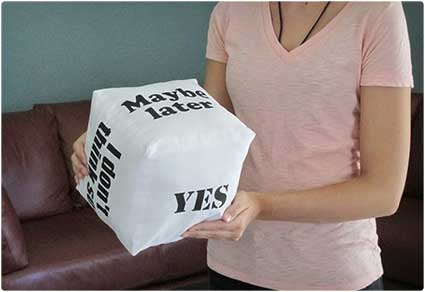 Decision Cube Pillow
