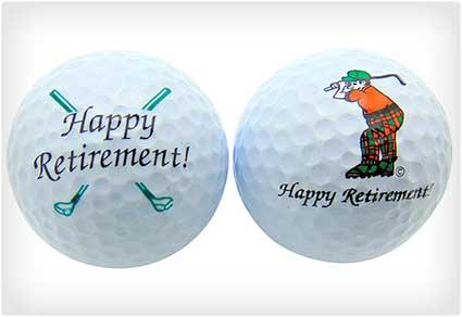 Happy Retirement Golf Balls