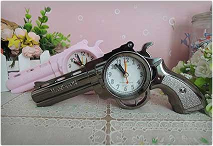 Revolver Shaped Alarm Clock