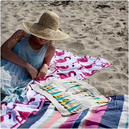 Travel Backgammon Board