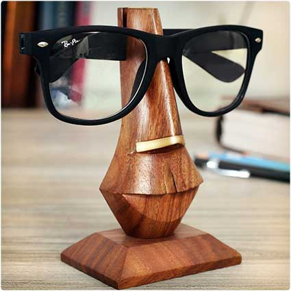 Wooden Eyeglass Stand