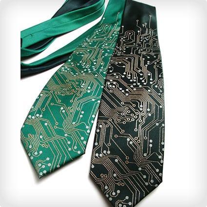 Circuit Board Nerd Necktie