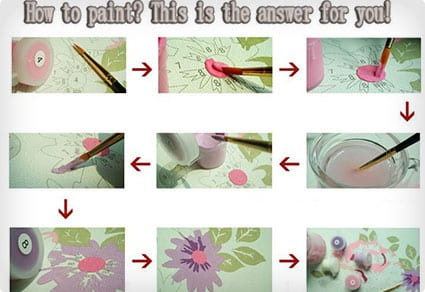 DIY Oil Paint by Numbers