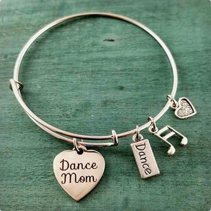 Dance Mom Bangle Charm Bracelet