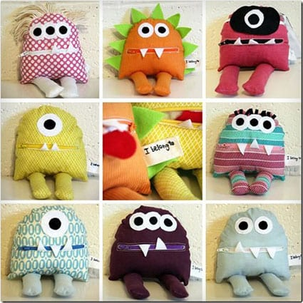 Four Face Pillow Craft Kids Sewing Kit