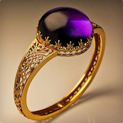 Gold Aquamarine Bangle Bracelet
