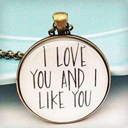 I Love/Like You Necklace