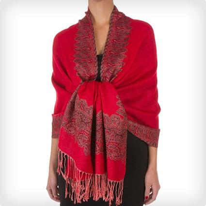 Layered Woven Pashmina Shawl