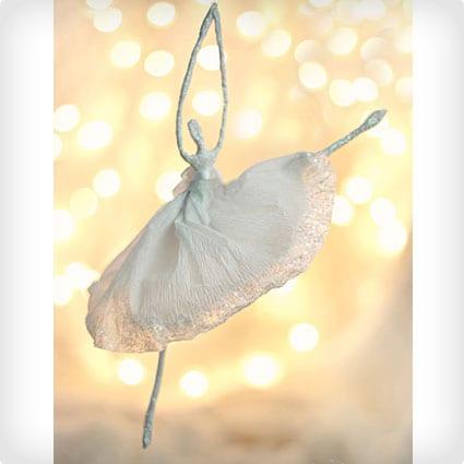 Paper Ballerina Ornament