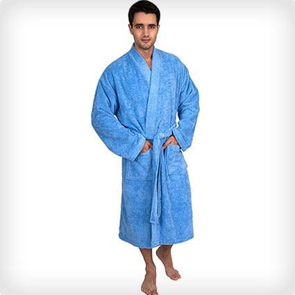 Plush Kimono Bathrobe
