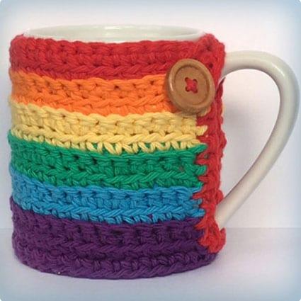 Rainbow Cup Cozy