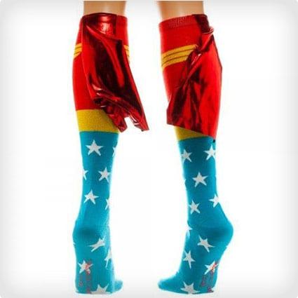 Wonder Woman Caped Socks
