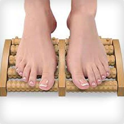 Wooden Dual Foot Massager