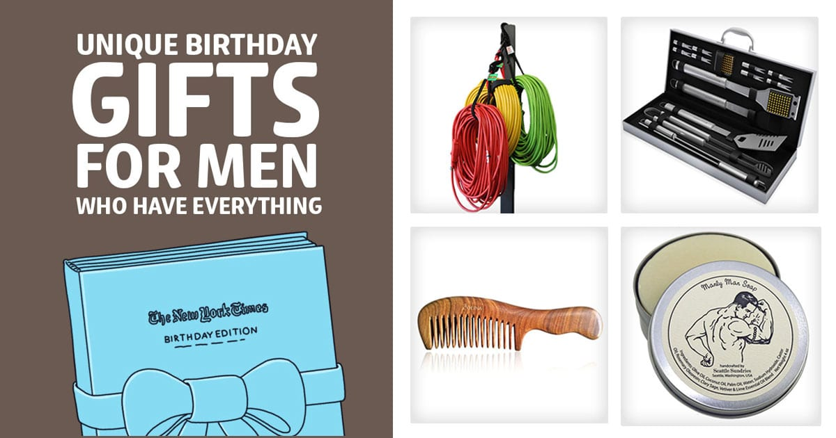 49 unique birthday gifts for men who have everything dodo burd
