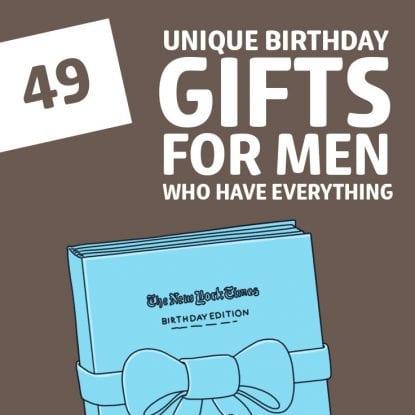 unique birthday gift ideas for men
