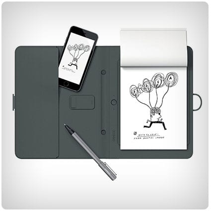 Wacom Folio with Gadget Pocket and Digital Ballpoint Pen