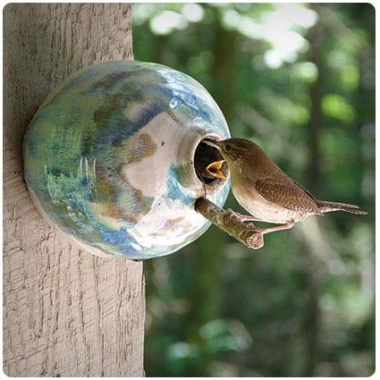 Pottery Birdhouse