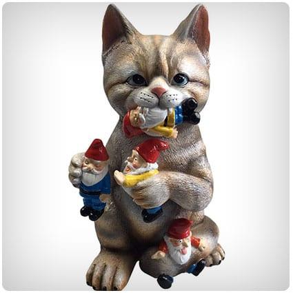 Cat Massacre Garden Gnome Statue