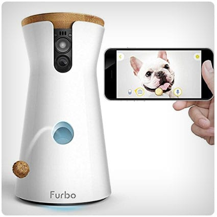 Furbo Dog Camera Treat Tossing, Full HD Wifi Cam and 2-Way Audio