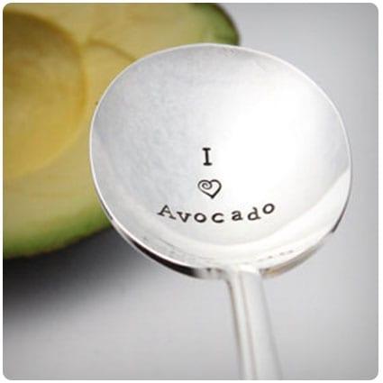 Vintage Avocado Scoop Spoon