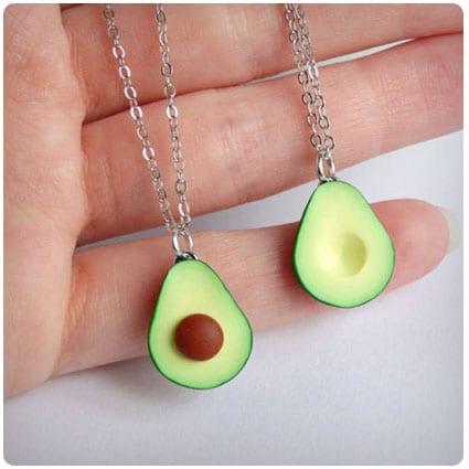 Green Avocado Friendship Necklace Pendant