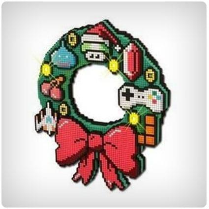 8-bit LED Christmas Wreath