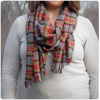 No Sew Flannel Blanket Scarf