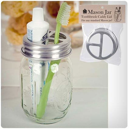 Mason Jar Toothbrush Holder Lid