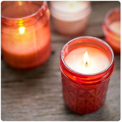 DIY Pink Mason Jar Candles