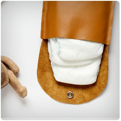 Simple Leather Diaper Clutch