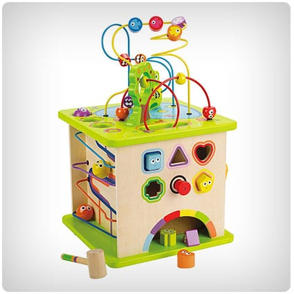 Hape Country Critters Wooden Activity Play Cube