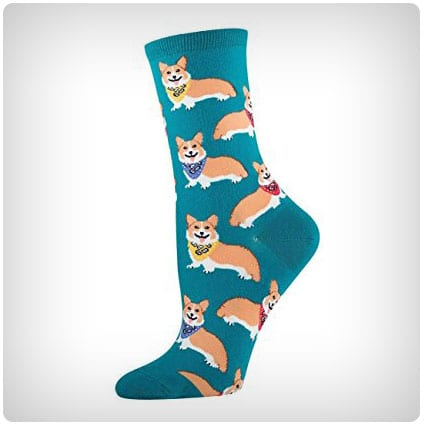Socksmith Women's Corgi Socks in Emerald