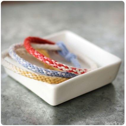 Ombre Kumihimo Yarn Bracelets
