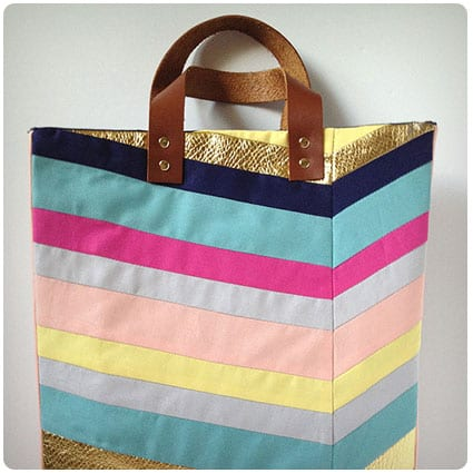 Art-inspired Chevron Tote Bag Tutorial