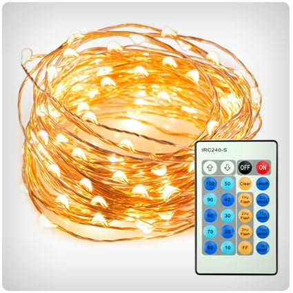 LED String Lights Dimmable with Remote Control