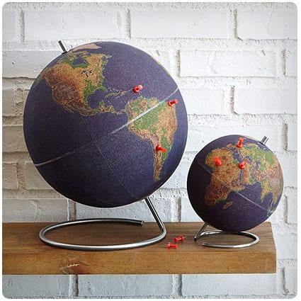 World Traveler's Cork Globe