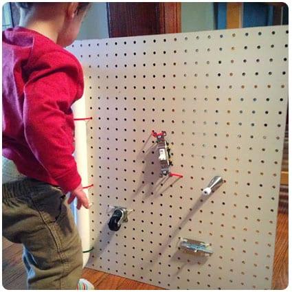 Diy Toddler Busy Board!