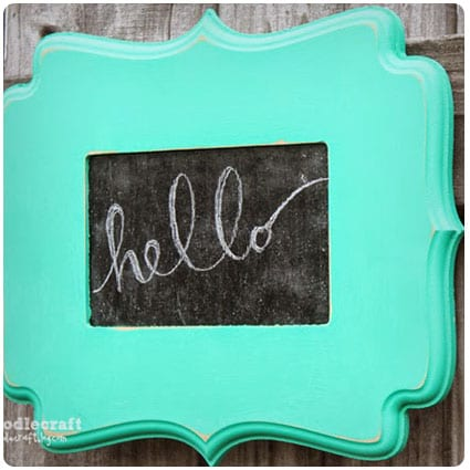 Curly Wood Frame Chalkboard