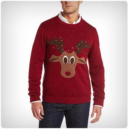 Alex Stevens Mens Merry Chihuahua Ugly Christmas Sweater