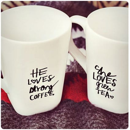 His and Her Sharpie Mug Diy