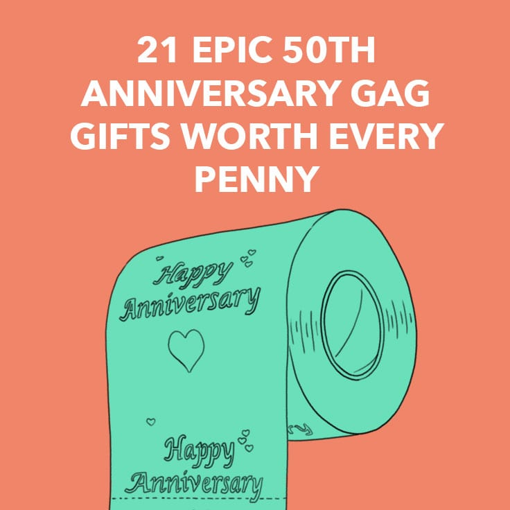 50th anniversary gag gifts