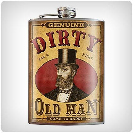 Dirty Old Man Stainless Steel Flask