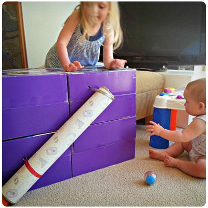 Diy Ball and Tube Play