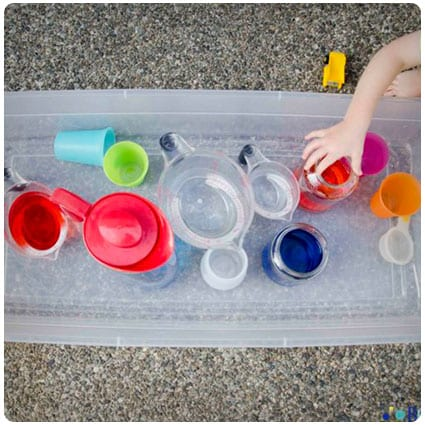 Diy Pouring Station Activity for Toddlers