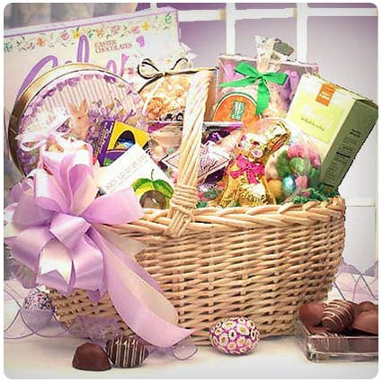 27 yummy pre filled food easter baskets for adults dodo burd family easter basket negle Choice Image