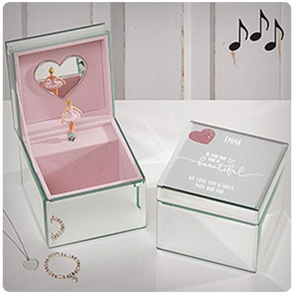 Birthday Gifts For Girls Childrens Personalised Ballet Keepsake Box Wooden Storage Memory Gift Boxes with Lid