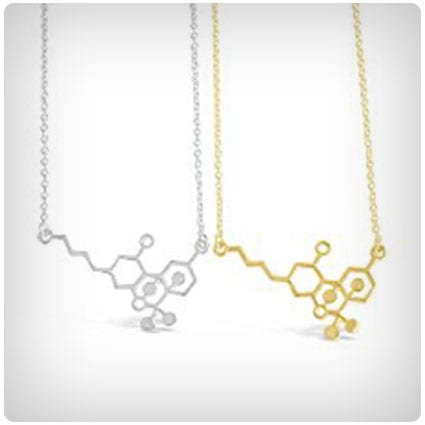 Rosa Vila THC Molecule Necklace